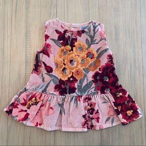 Kenzo   Pink Floral Velvet Dress